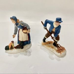 Christmas Village Set of 2 Farmers New with box